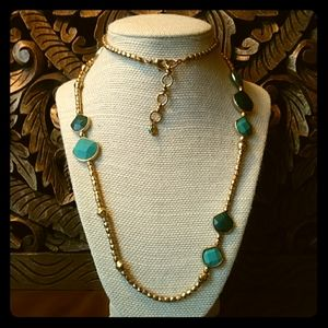 LUCKY BRAND Turquoise & Gold Necklace